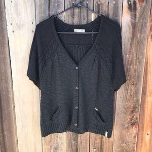 Billabong Button Front Knit Cardigan Sweater